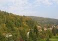 Willa Pod Jemiołą Wisła ul.Leśna 12 widok z okien na Jawornik